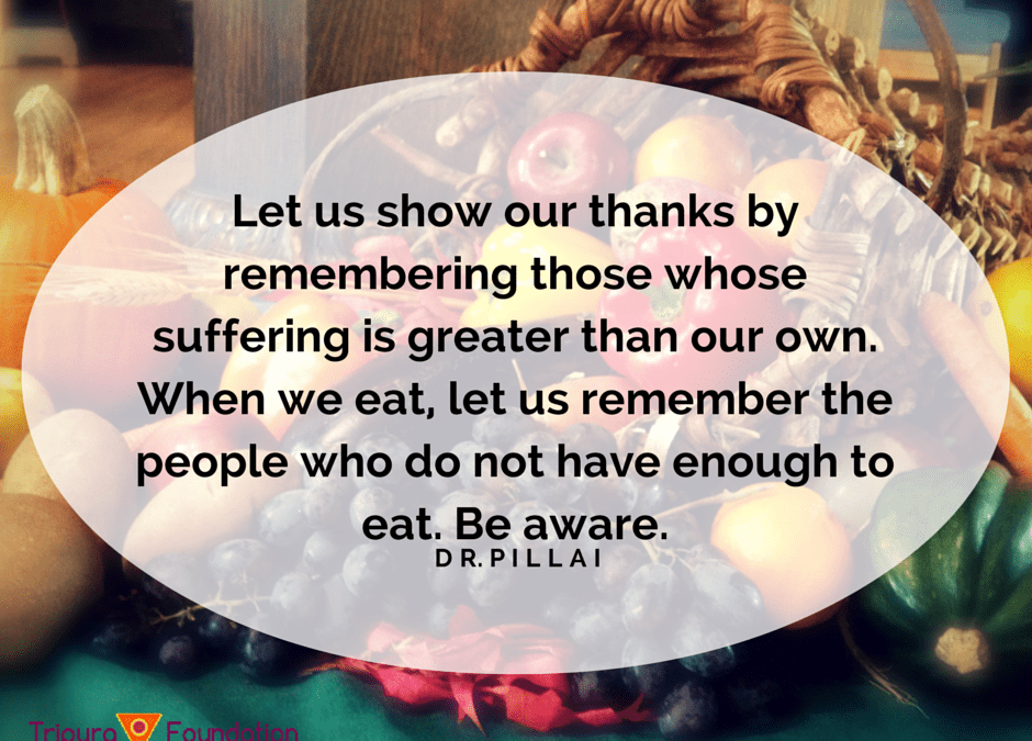 On Thanksgiving, Remember Those Less Fortunate…