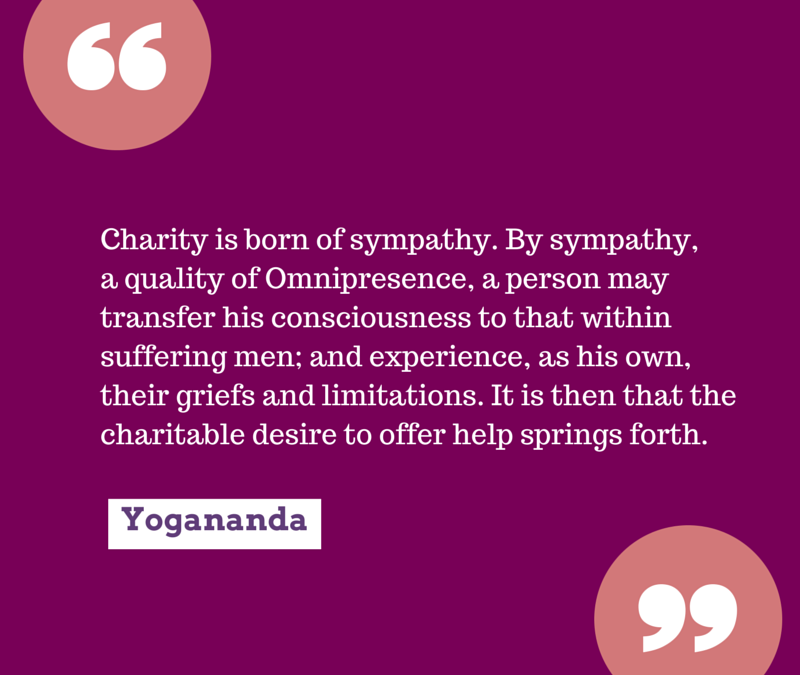 Charity is Born of Sympathy
