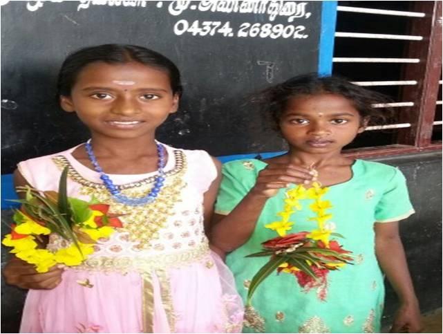 Ragavi and Ragini Radiate Beauty and Joy