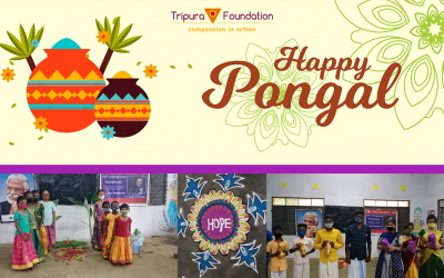 Hope Children Participating in the Food and Fun of Traditional Pongal Celebrations