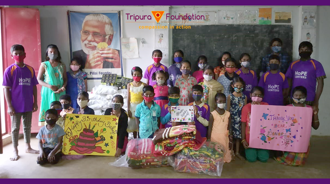 Hope Learning Stations Celebrate Dr. Pillai's Birthday
