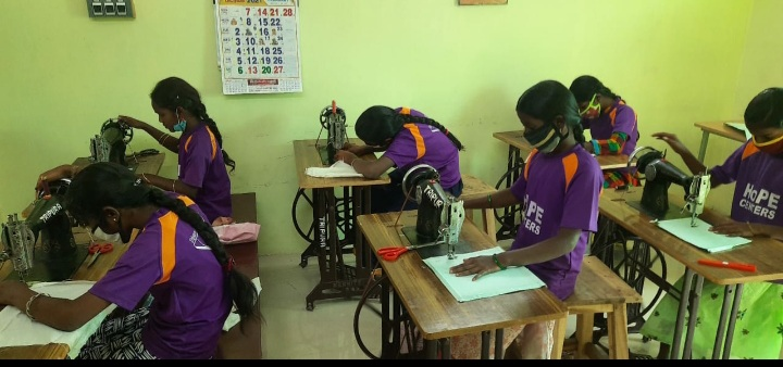 Hope Girls Showing their Sewing Skills