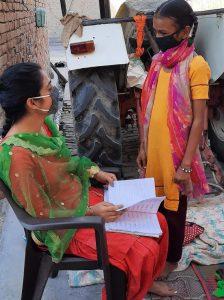 Rajja learning from her teacher at the HLS.
