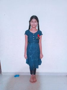 Ruchita dressed in beautiful clothes.