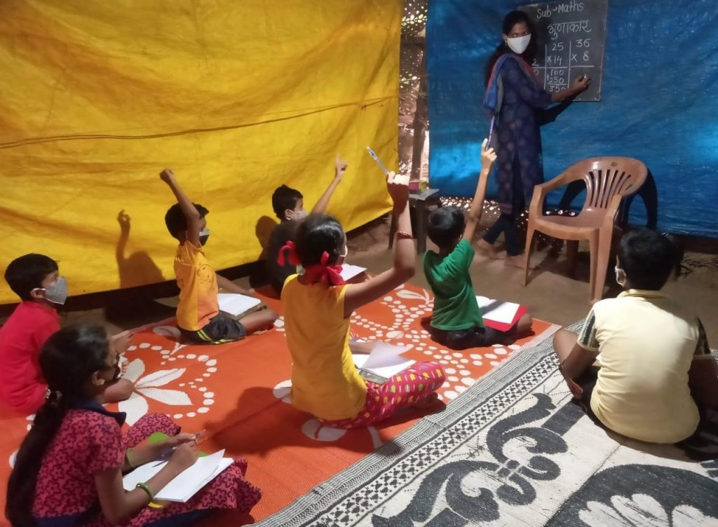 Suvidha teaching her hope students at the HLS