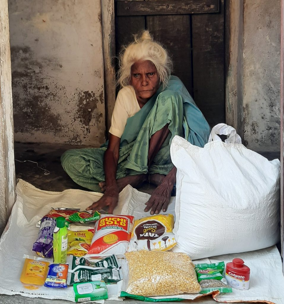 Rations Kits received by the Elderly in Rural Villages.