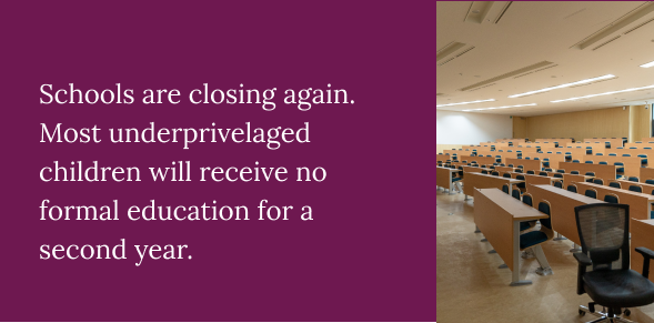 schools are closed in India due to the Covid-19 crisis