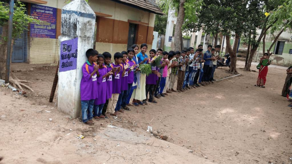 Hope Children welcoming Hope Sponsor Krishna Bhaavin Shah