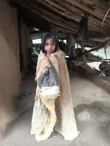 Hope child looking forward for your support to get a new blanket