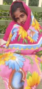Hope child with her blanket