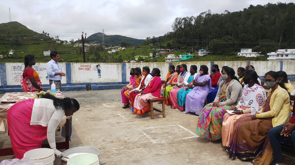 18 women from below the poverty line were chosen for the day-long, interactive training.